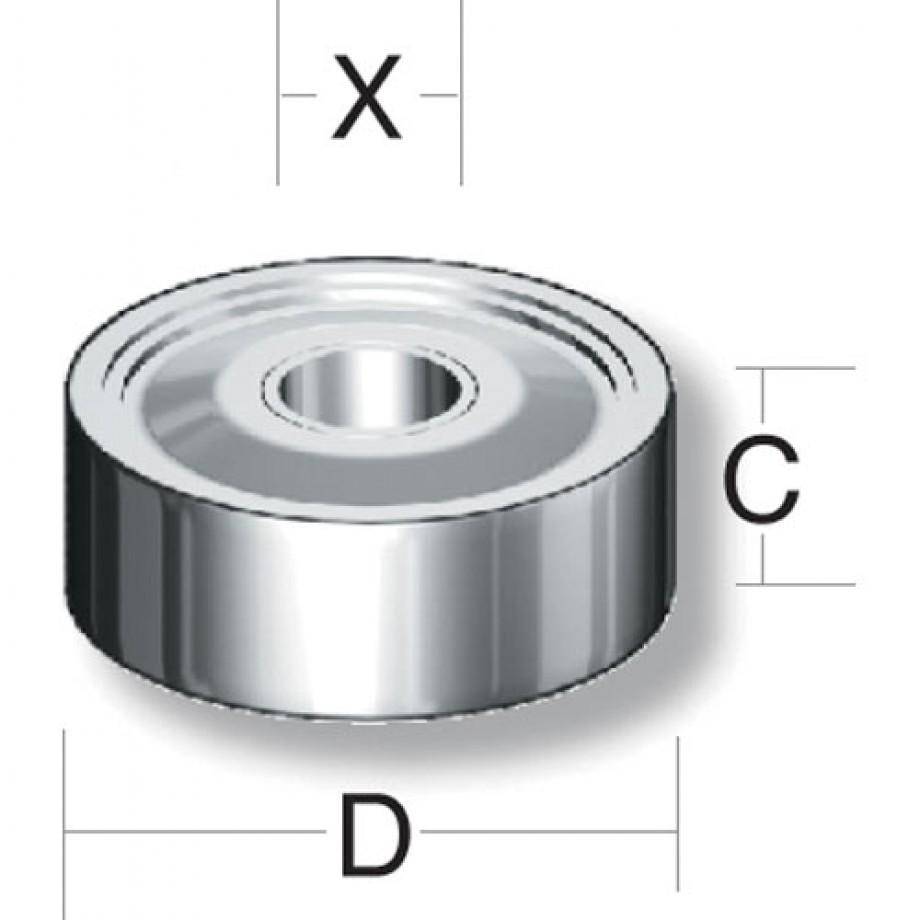 Axcaliber Router Cutter Bearing - D=19.05 - X=6.35mm