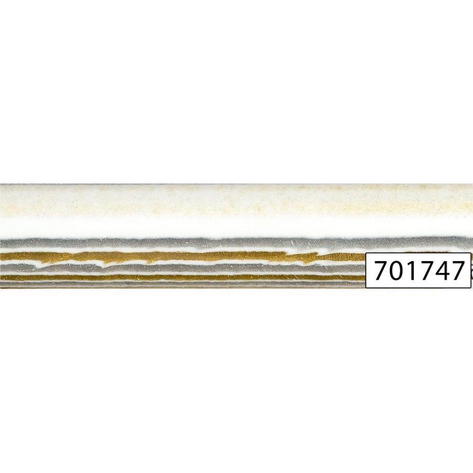 Decorative Polyester Pen Blanks - Gold/Silver White, 20 mm - Round