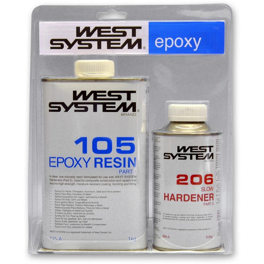 West System Epoxy 'A' Pack Slow - 1.2kg