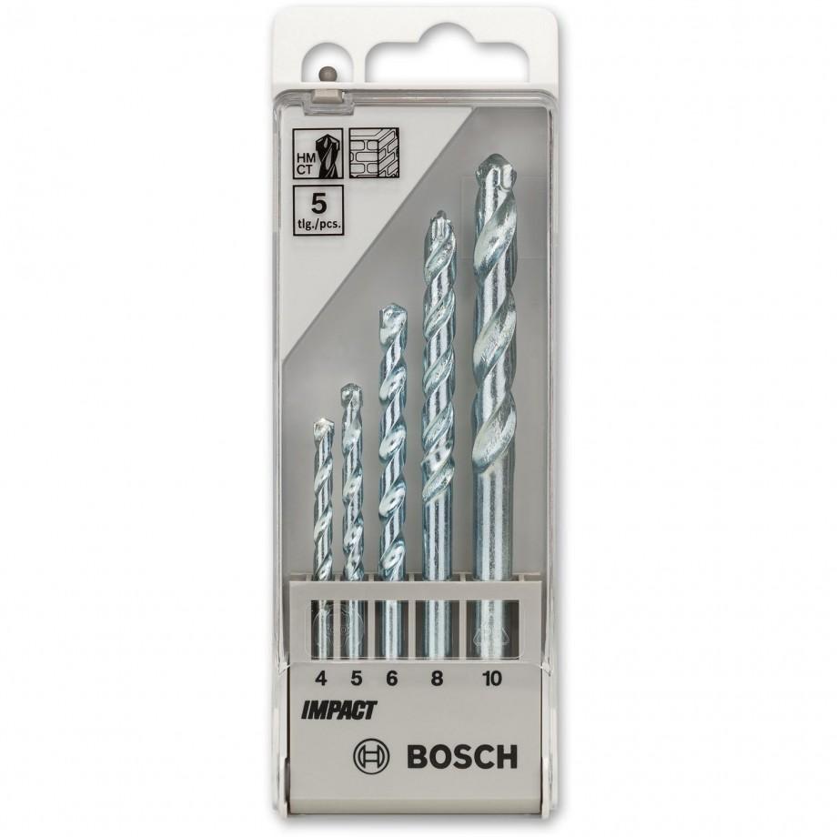 Bosch Impact Masonry Drill Bit Set - (5 Piece, 4,5,6,8 &10mm)