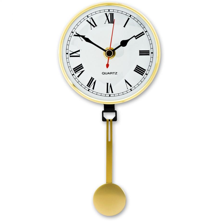 Craftprokits 100mm Clock Insert With Brass Pendulum