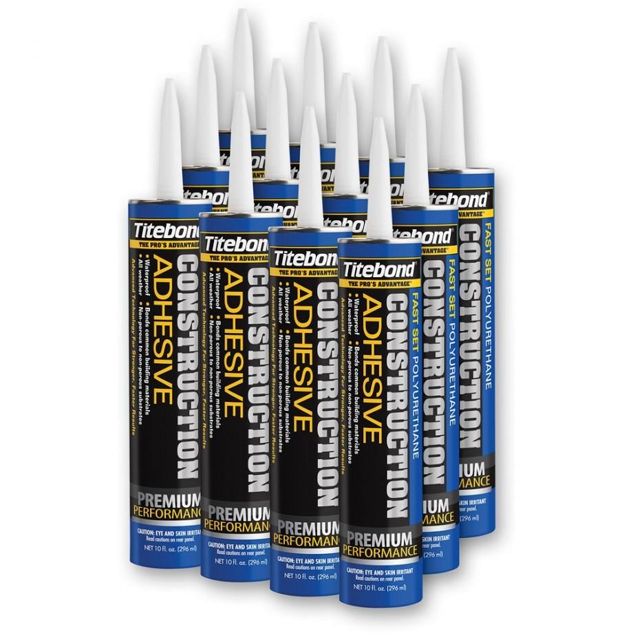 Titebond GREENchoice™ Polyurethane Construction Adhesive - 310ml Pack 12 Tubes
