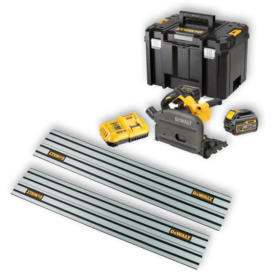 DeWALT DCS520T2XR Plunge Saw 54V Kit with 2 Rails
