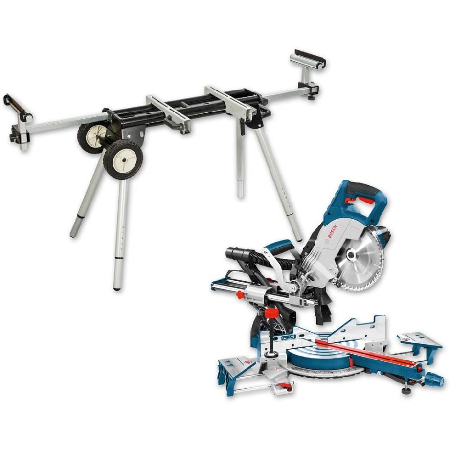 Bosch GCM 8 SJL 216mm Slide Mitre Saw 110V & Stand