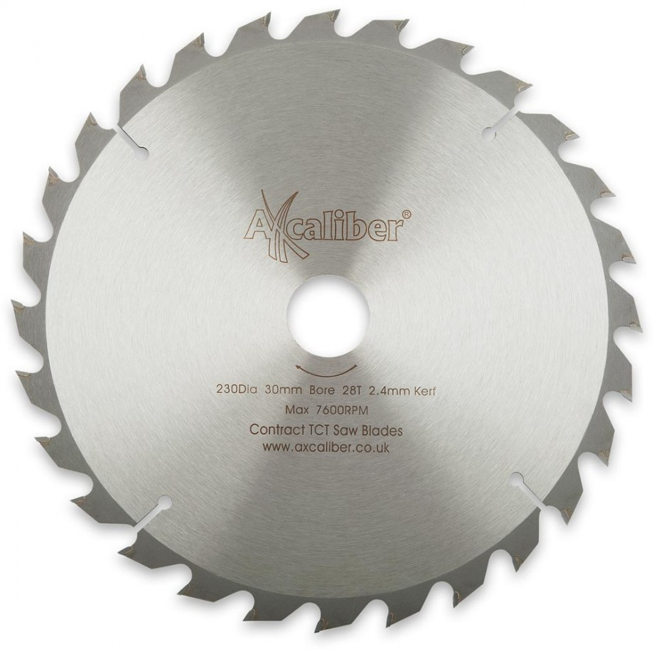Axcaliber Contract TCT Saw Blade - 230mm x 2.2mm x 30mm T28