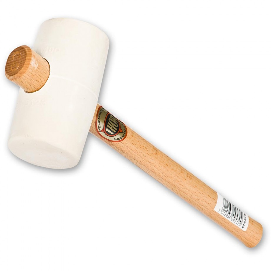 Thor 953W White Rubber Mallet - 63mm(2.1/2in), 570g(20oz)