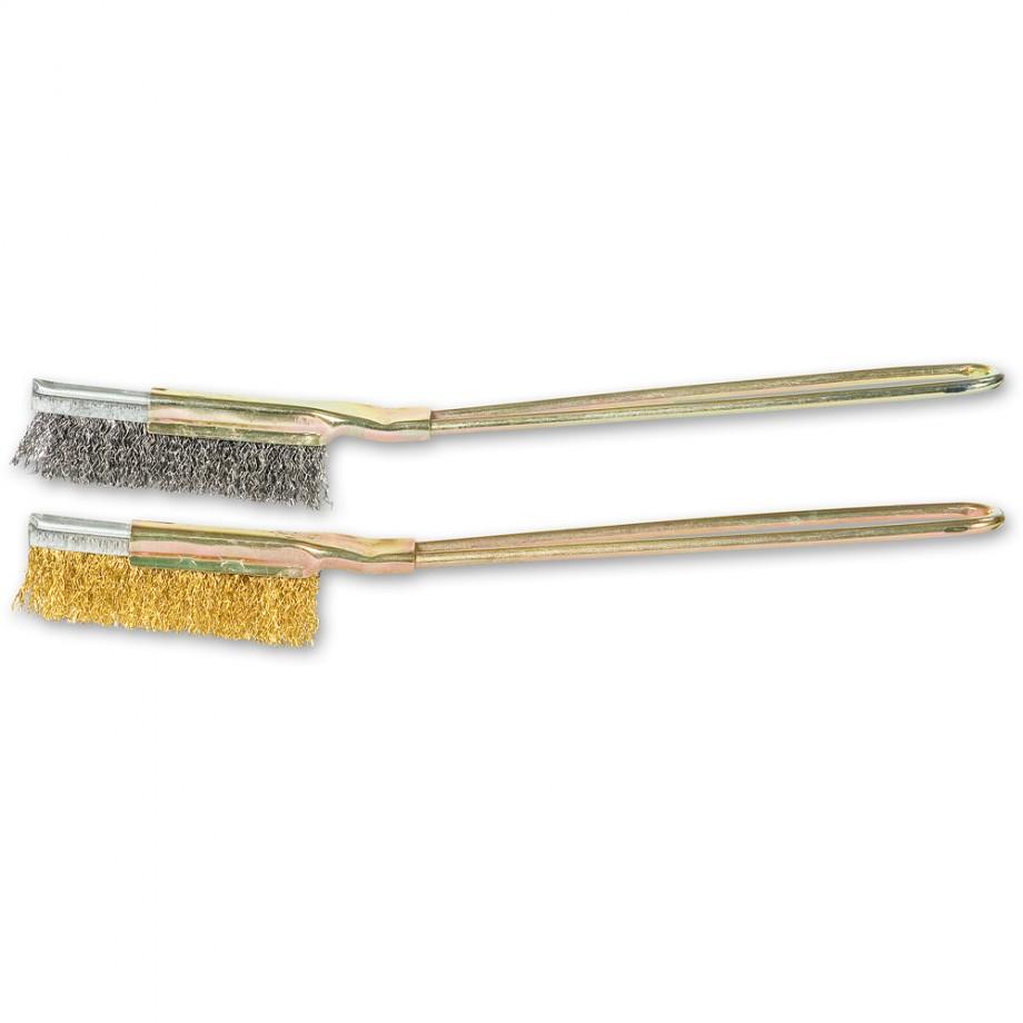 SIT Slim Duo Wire Brush Set - Steel & Brass