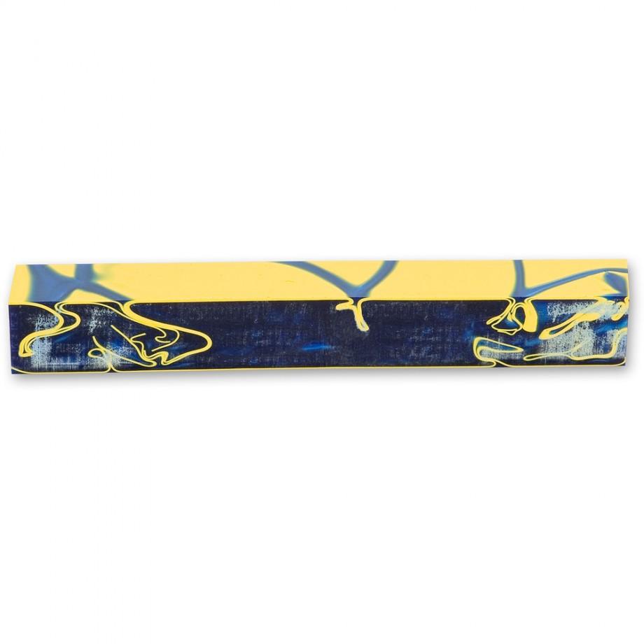 Navy with Yellow Acrylic Pen Blank