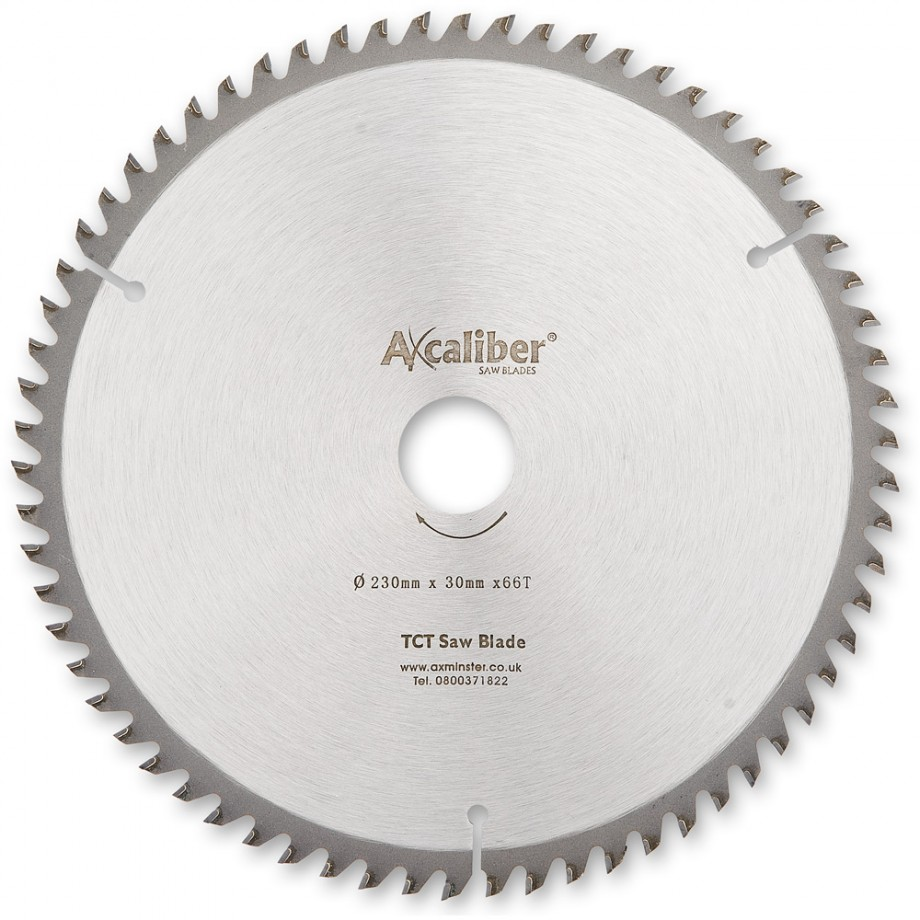 Axcaliber Contract TCT Saw Blade - 230mm x 2.4mm x 30mm x T66