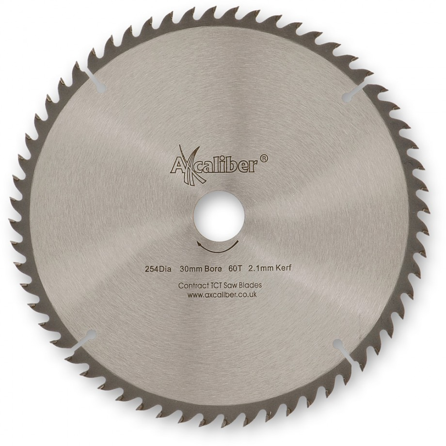 Axcaliber Contract TCT Thin Kerf Saw Blade - 254mm x 2.1mm x 30mm T60