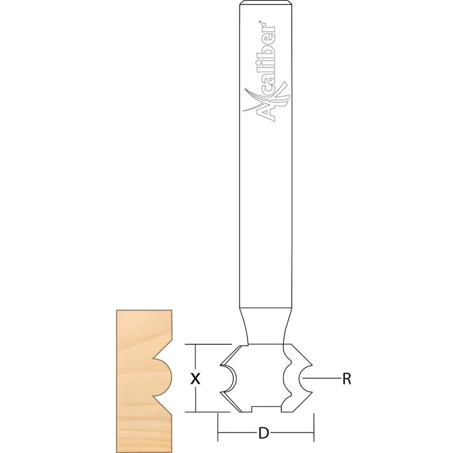 Axcaliber Extended Shank Beading Cutter