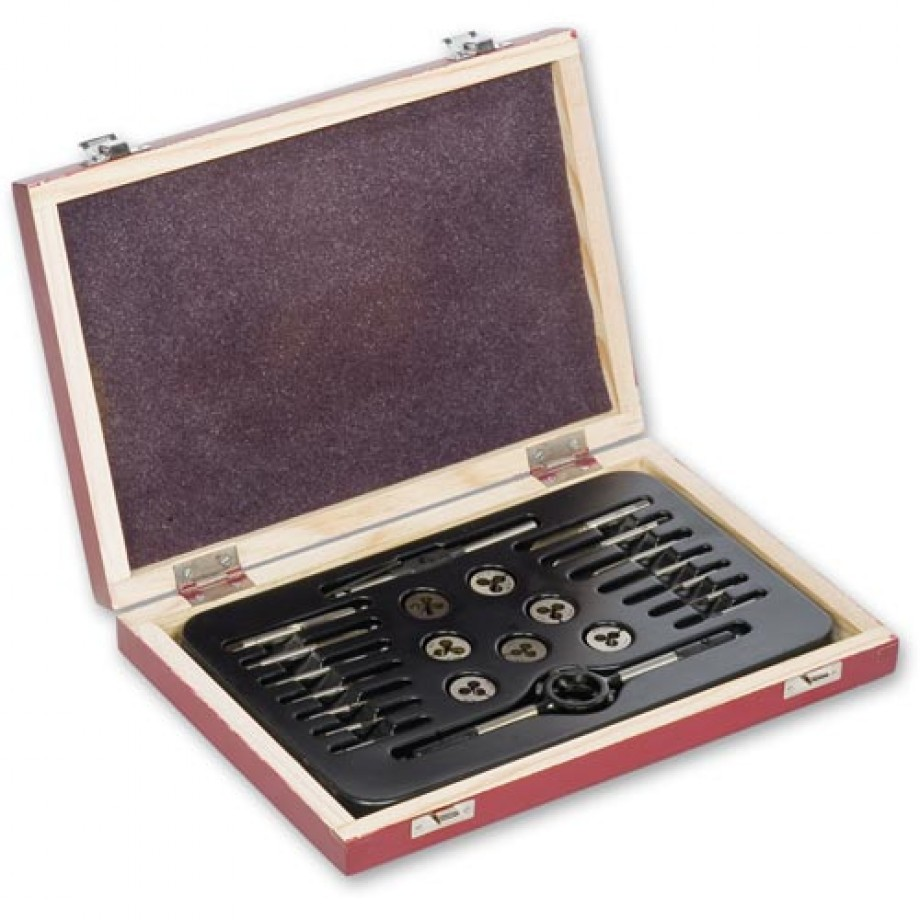 Axminster 0 - 12 BA Tap and Die 23 Piece Set