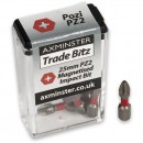 Axminster Trade Bitz PZ2 Impact Bits 25mm (Pkt 10)