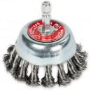 Wire Cup Brush - Twisted Steel 70mm - Hex Shank