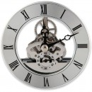Craftprokits 86mm Silver Skeleton Clock