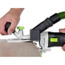 The trimmer used in a horizontal position