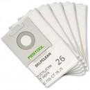 Festool Self Clean Filter Bags for CTL26/ CTM26 Extractors