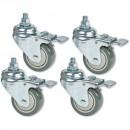 Jet Set of 4 Lockable Castors for 10-20 & 16-32 Plus Drum Sanders