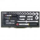 """Proxxon 56 Piece Industrial Socket Set (1/4"""" & 1/2"""")"""