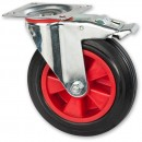 Axminster Castoring Wheel Braked 200mm