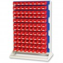 bott 1450mm Static Louvre Storage Rack 192 Red Bins