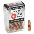 Axminster Trade Bitz TiN PZ3 S/Driver Bits 25mm (Pkt 10)