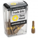 Axminster Trade Bitz TiN T20 S/Driver Bits 25mm (Pkt 10)