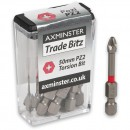 Axminster Trade Bitz Pozi PZ2 Torsion Screwdriver Bits 50mm (Pkt 10)