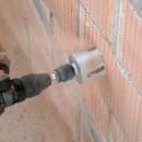 Using the Multi Construction holesaw into brick