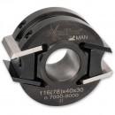 Axcaliber Aluminium Cutter Head - 100mm Diameter, 30mm Bore