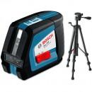 Bosch GLL 2-50 BS Cross Laser Line with BT 150 Tripod
