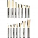 Axcaliber Dovetail Cutter - D=12.7mm - X=15.11mm - K=12° - Leigh No. 112-8 - S=8mm
