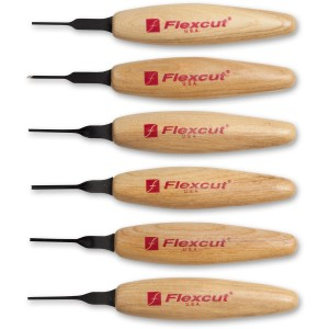 Flexcut 6 Piece 1.5 mm Mixed Profile Micro Tool Set