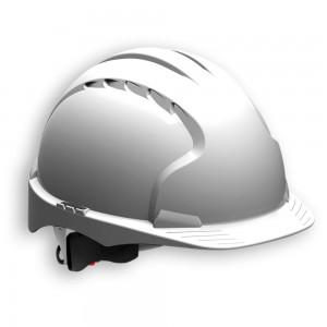 JSP EVO3 Safety Helmet with Wheel Ratchet - White
