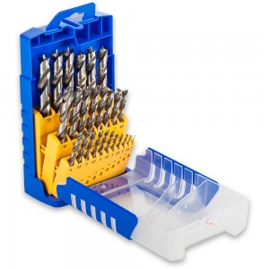FISCH 25 Piece HSS Brad Point Drill Set