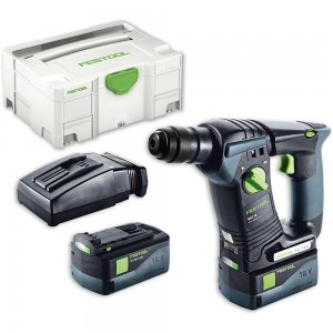 Festool BHC 18 Li 5.2 PLUS Cordless SDS+ Drill AIRSTREAM 18V