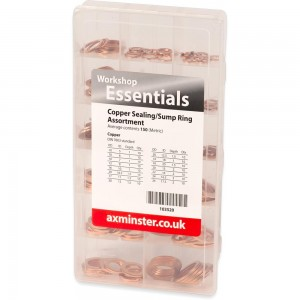 Axminster Copper Sealing & Sump Washer Assortment