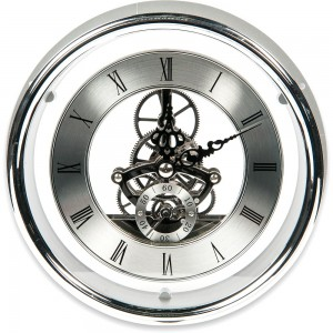 Craftprokits 149mm Silver Skeleton Clock Insert