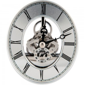 Craftprokits 80 x 94mm Silver Skeleton Clock