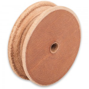Axminster Leather Profiled Honing Wheel 100 x 26mm