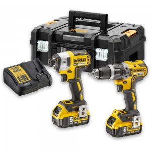 DeWALT DCK266P2T Brushless Combi and Impact Twin Pack 18V (5.0Ah)