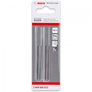 Bosch Planer Knives For GHO 12V-20 - 56mm (Pkt 2)