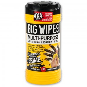 Big Wipes Multi Purpose Hand Wipes - 80 Wipe Tub