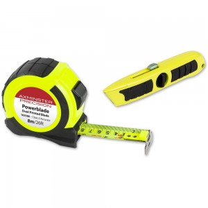 Axminster Precision Powerblade 8m/26ft Tape & Knife