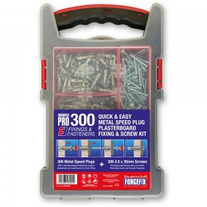 Forgefix 300 Piece Plasterboard Fixing Kit