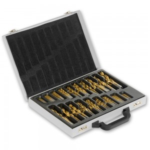 170 Piece High Speed Steel Ground Drill Bit Set