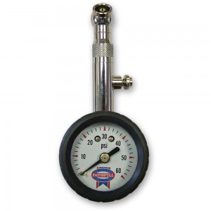 Faithfull Tyre Pressure Dial Gauge 60psi