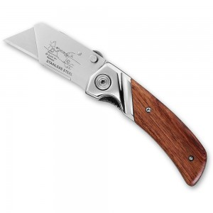 Stanley Folding Pocket Knife with Wooden Handle