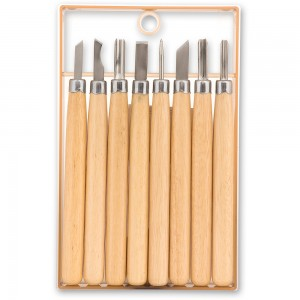 Axminster 8 Piece Detail Carving Tool Set