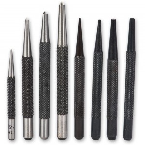 Axminster 8 Piece Nail & Centre Punch Set